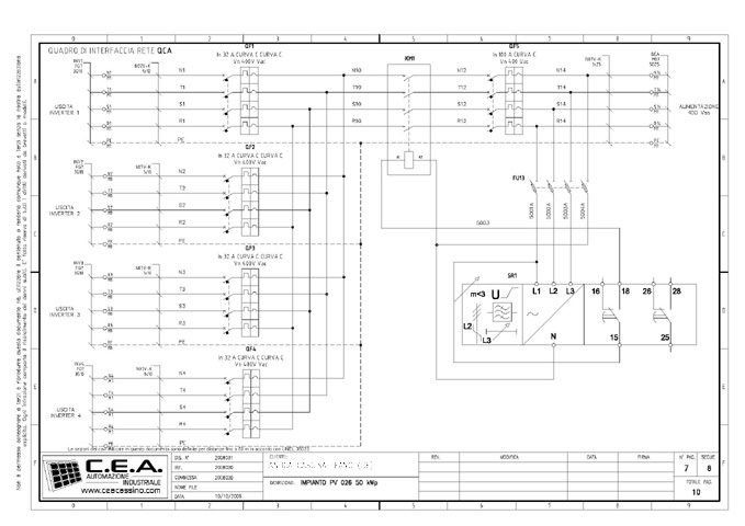 Schema Elettrico Inverter : C e a progettazione schemi elettrici per quadri di