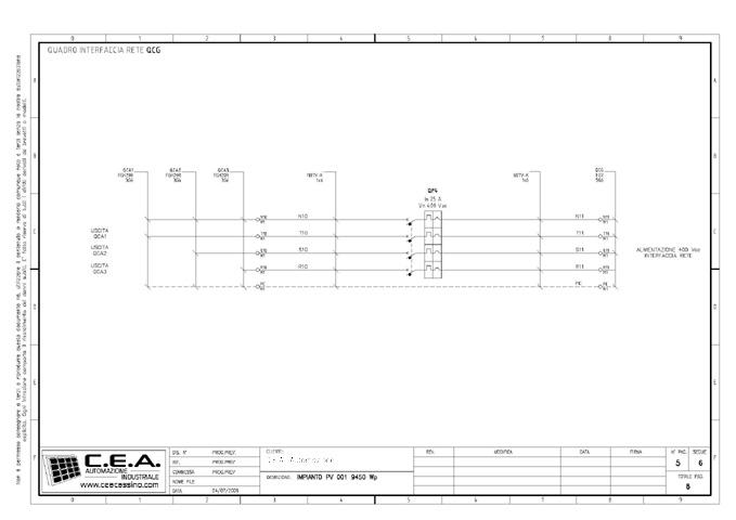 Schema Elettrico Quadro Di Campo Impianto Fotovoltaico : C e a progettazione schemi elettrici per quadri di