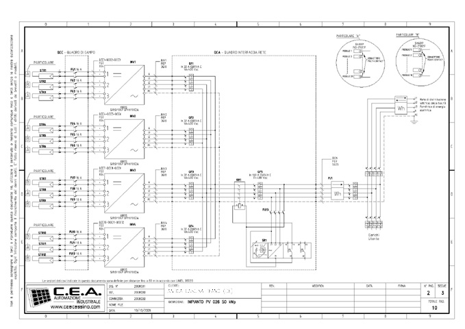 Schema Collegamento Impianto Fotovoltaico : C e a progettazione schemi elettrici per quadri di