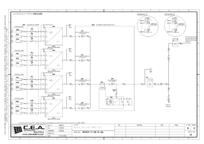Schema Elettrico Unifilare Impianto Fotovoltaico : Schema elettrico unifilare impianto fotovoltaico fare di